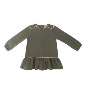MON PETIT BONBON GIRLS GREY DRESS