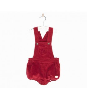 COCOTE BABY BOY DARK RED OVERALLS
