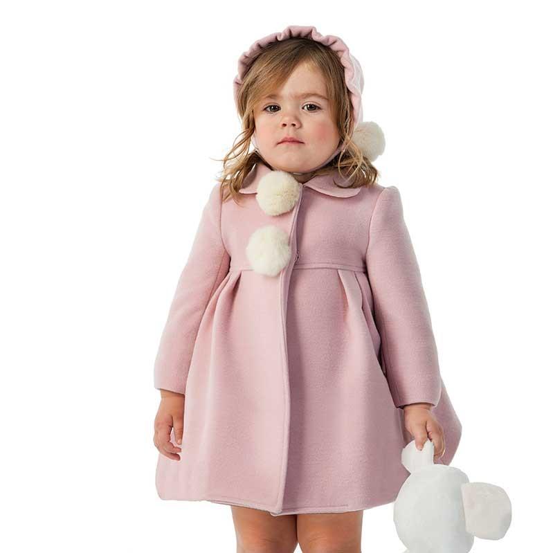 Jose Varon Baby Girls Pink Coat