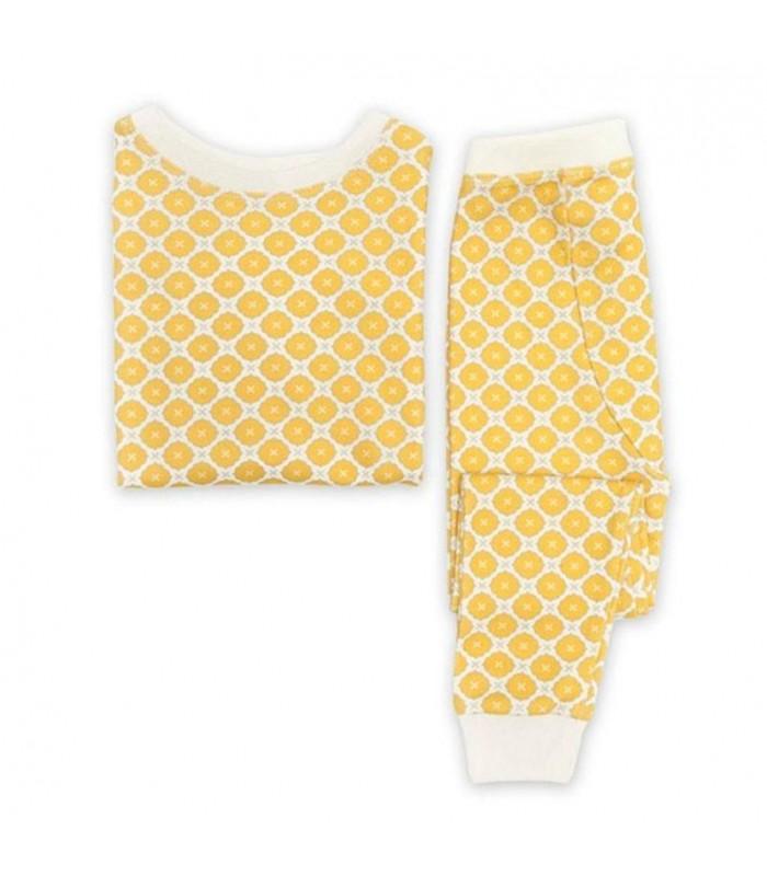 Pijama 100% algodón orgánico amarillo OM Home
