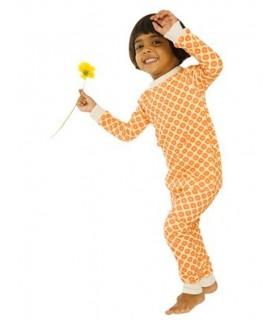 Pijama 100% algodón orgánico naranja OM Home