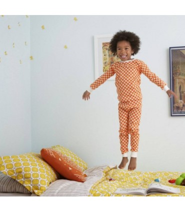 Two-Piece orange PJ OM Home