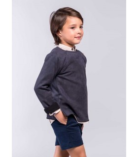 PILAR BATANERO BOYS BLUE SWEATER