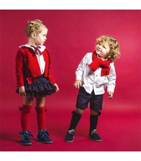 CARDIGAN ROUGE PETITE FILLE ROCHY DIPLOMATICA