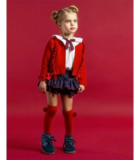 ROCHY GIRLS RED CARDIGAN DIPLOMATICA