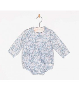 COCOTE BABY BLUE FLOWERED ROMPER