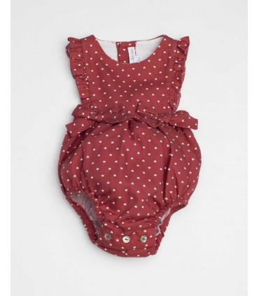 FINA EJERIQUE BABY GIRLS RED ROMPER HEARTS