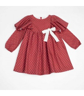 FINA EJERIQUE GIRLS RED DRESS HEARTS