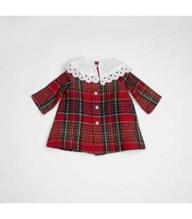 FINA EJERIQUE BABY GIRLS TARTAN DRESS