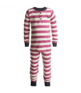 Pink stripes 100% cotton girls pajamas Hatley