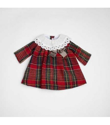 FINA EJERIQUE BABY GIRLS TARTAN DRESS