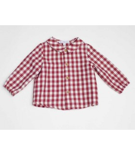 FINA EJERIQUE LITTLE BOYS RED CHECKED SHIRT