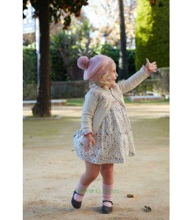 MARTIN ARANDA BABY GIRL PINK JACQUARD CARDIGAN