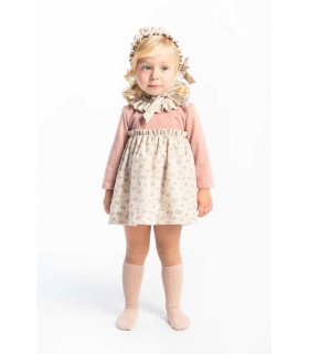 JOSE VARON BABY GIRLS PINK DRESS