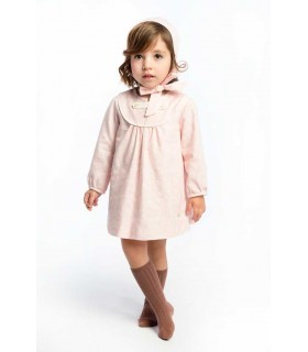 COCOTE BABY GIRLS PINK DRESS WITH BONNET