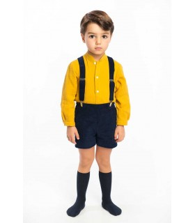 COCOTE BABY BOY MUSTARD AND NAVY BLUE SET