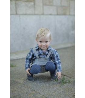 ANCAR LITTLE BOYS CHECKED BLUE SHIRT