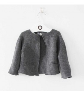 ANCAR BABY GIRL GREY CARDIGAN HEDGEHOG