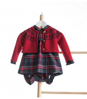 KIDS CHOCOLATE BABY GIRLS RED CARDIGAN