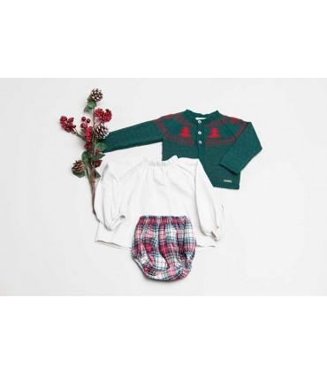CESAR BLANCO BABY RED AND GREEN CHRISTMAS SET