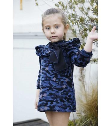 LAPEPPA GIRLS DRESS CAMOUFLAGE RETO