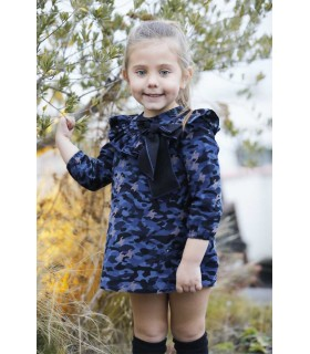 LAPEPPA GIRLS DRESS CAMOUFLAGE RETO