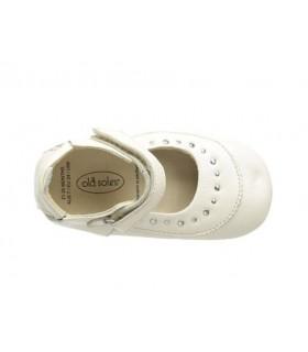 Zapatos niña Old Soles en crema