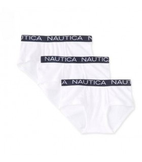 Pack 3 calecons blanc garcon Nautica