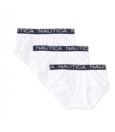 3 Pack Boys White Boxers Nautica