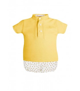EVE CHILDREN BABY BOYS MUSTARD SET BEE