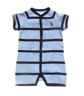 Blue stripes baby romper by Ralph Lauren