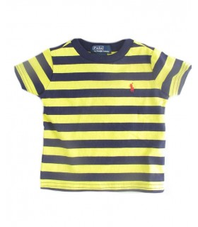 Toddler black & yellow striped T-shirt Ralph Lauren