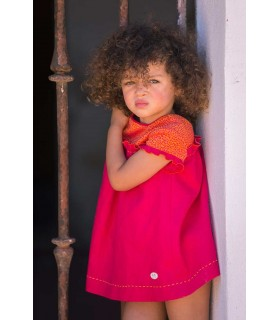 JOSE VARON BABY GIRLS FUCHSIA DRESS