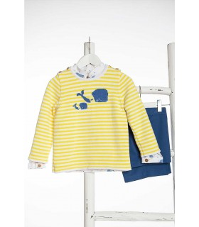 KIDS CHOCOLATE BABY BOYS SEA STARS SWEATER