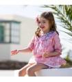 KIDS CHOCOLATE BABY GIRLS TOILLE DE JOUY DRESS