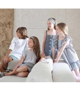 EVE CHILDREN GIRLS GREY ROMPER DRAGONFLY