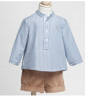 Fina Ejerique blue stripped shirt for boys