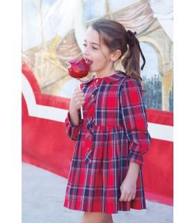 EVE CHILDREN GIRLS RED CHECKED DRESS SCOTTISH