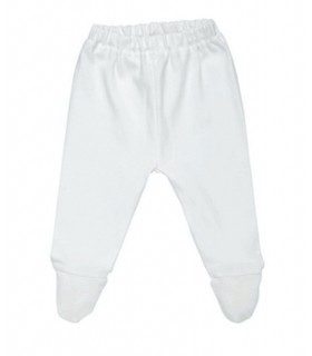 100% organic cotton baby white pants Under The Nile