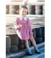 FINA EJERIQUE BABY GIRLS RASPBERRY DRESS
