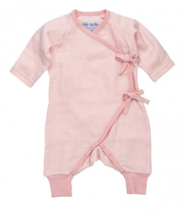 Baby pink kimono 100% cotton Under the Nile