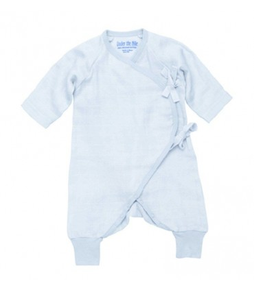 Baby blue kimono 100% cotton Under the Nile