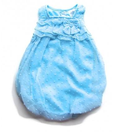 Vestido-ranita bebé niña