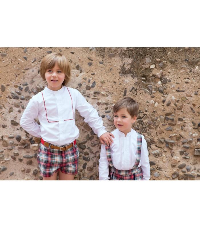 Conjunto niño camisa short y cinturón MARTA Y PAULA