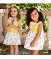 JULIANA BABY GIRLS YELLOW DRESS FLOWERS