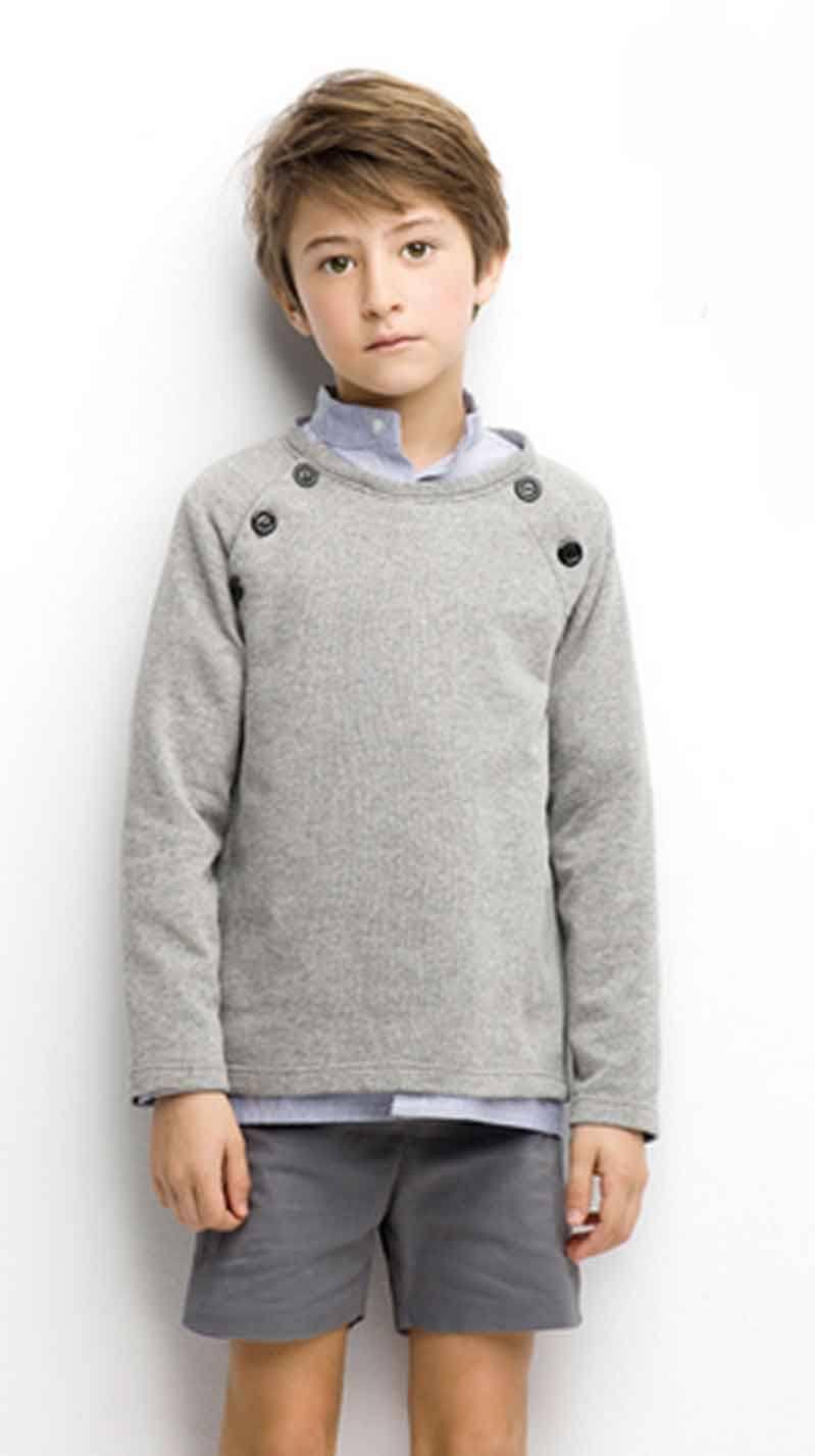 Gray Sweatshirt For Boys Nueces Kids