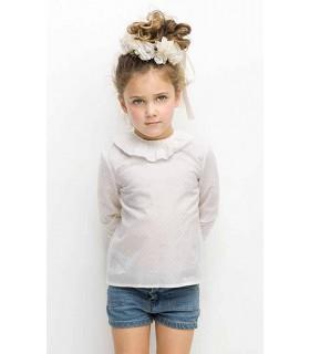 Camisa cuello bebe topos plata de Nueces Kids