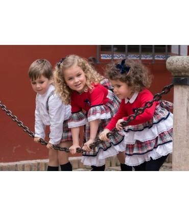 Conjunto bebé niño camisa short y cinturón MARTA Y PAULA