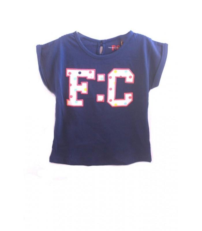 Camiseta bebé niña azul marino French Connection