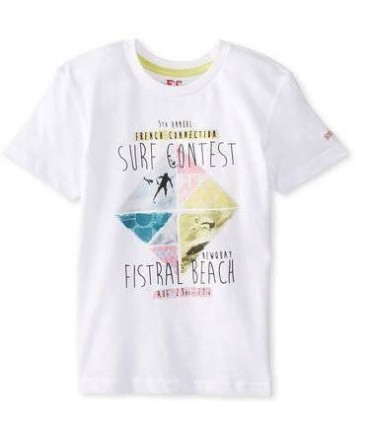 Camiseta blanca SURF French Connection